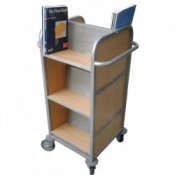 Compact Double Sided Mobile Library Book Storage Trolley