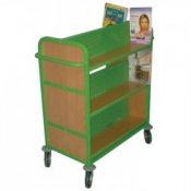 Double Sided Mobile Library Book Storage Trolley