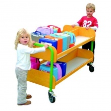 Double Sided Primary School Lunch Box Storage & Transportation Trolley