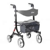 Drive Medical Black Bariatric Nitro Rollator