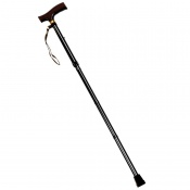 Drive Medical Black Folding Walking Cane with Strap