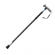 Drive Medical Black Folding Walking Stick with Gel Grip Handle