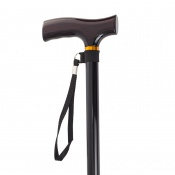 Drive Medical Black T-Handled Walking Cane with Strap