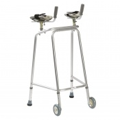 Drive Medical Domestic Medium Walking Frame with Wheels and Forearm Platforms