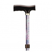 Drive Medical Blossom Red Patterned Folding Walking Cane with Strap