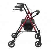 Drive Medical Red Adjustable Seat and Handle Height Rollator