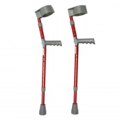 Drive Medical Red Aluminium Paediatric Forearm Crutches