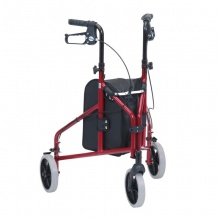 Drive Medical Two-Piece Red Ultra Lightweight Triwalker with Bag Only