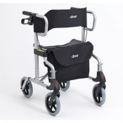 Drive Medical Silver Diamond Deluxe Rollator with Leg Rests