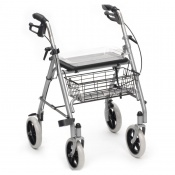 Drive Medical Two-Piece Silver SR8 Steel Rollator