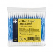 Dual End Cotton Tipped Applicators (Pack of 100)