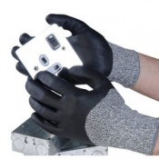 Polyco Dyflex N Seamless Knitted Nitrile Cut Resistant Safety Gloves (48 Pairs)