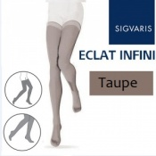 Sigvaris Eclat Infini Thigh Compression Stockings - Taupe