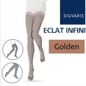 Sigvaris Eclat Infini Thigh Compression Stockings - Golden