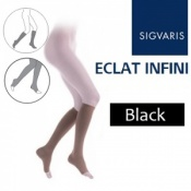 Sigvaris Eclat Infini Calf Open Toe Compression Stockings - Black