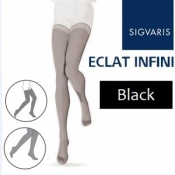 Sigvaris Eclat Infini Thigh Compression Stockings - Black