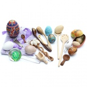 The Egg and Spoon Sensory Play Toy Collection