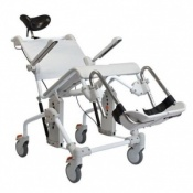 Etac Swift Mobile Tilt Shower/Toilet Chair with Bucket Holder
