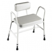 Extra-Wide Bariatric Perching Shower Stool