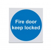 'Fire Door Keep Locked' Safety Sign