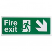 'Fire Exit Down Left' Safety Sign
