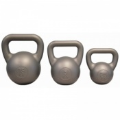 Fitness-Mad PVC Silver Kettle Bell