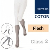 Sigvaris Coton Calf Class 2 Flesh Compression Stockings