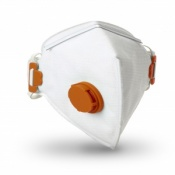 Respair Fold Flat FFP3V Single Use Disposable Respirator (Case of 100)
