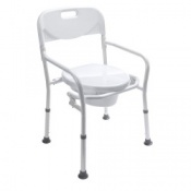 Foldable Toilet Frame with Back Rest