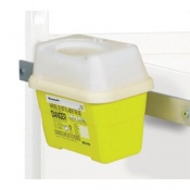 Frontier Sharps Box Bracket for the Sunflower Medical Ward Drug and Medicine Dispensing Trolleys (2 and 3 Litre)