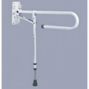 Trombone Drop Down Grab Rail With Adjustable Leg