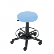Sunflower Medical Cool Blue Gas-Lift Stool with Foot Ring