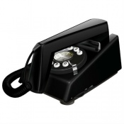 Geemarc Black Trimline Retro Corded Telephone