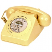 Geemarc Cream Mayfair Retro Corded Telephone