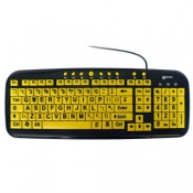 Geemarc Multimedia Keyboard with Large Yellow Keys