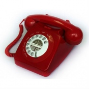 Geemarc Red Mayfair Retro Corded Telephone