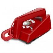 Geemarc Red Trimline Retro Corded Telephone