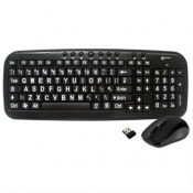 Geemarc Wireless Keyboard and Mouse for the Visually Impaired