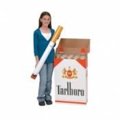 Giant Cigarette Box With Removable Cigarette Model Tobacco Educational Aid