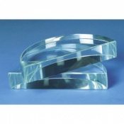 Clear Glass  Semi Circular Prism