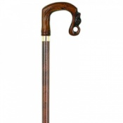 Corinium Moulded Shepherds Crook Walking Stick