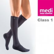 Medi Mediven Active Class 1 Grey Below Knee Compression Socks for Men