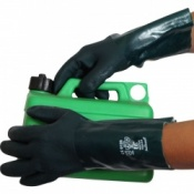 Green Double Dip Chemical PVC 14'' Gauntlet Gloves