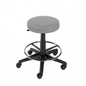 Sunflower Medical Grey Gas-Lift Stool with Foot Ring