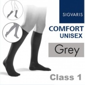 Sigvaris Unisex Comfort Calf Class 1 (RAL) Grey Compression Stockings