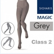 Sigvaris Magic Class 2 Closed Toe Compression Tights - Grey