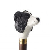 Hand Painted Border Collie Hardwood Cane