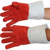 Heat Resistant Leather Glove with 4 inch Cuff