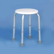 Homecraft Adjustable Height Aluminium Shower Stool (Flat-Packed)