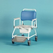 Homecraft Atlantic Bariatric Commode Shower Chair with Footrests (560mm Width Between Armrests)